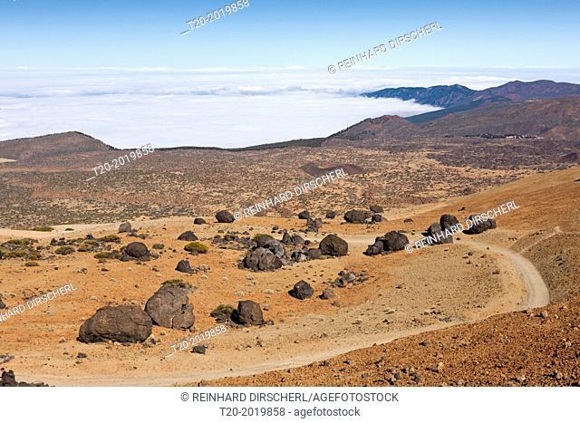 Teide Eggs or Lava Accreation Balls in Teide National Park, Tenerife, Canary Islands, Spain