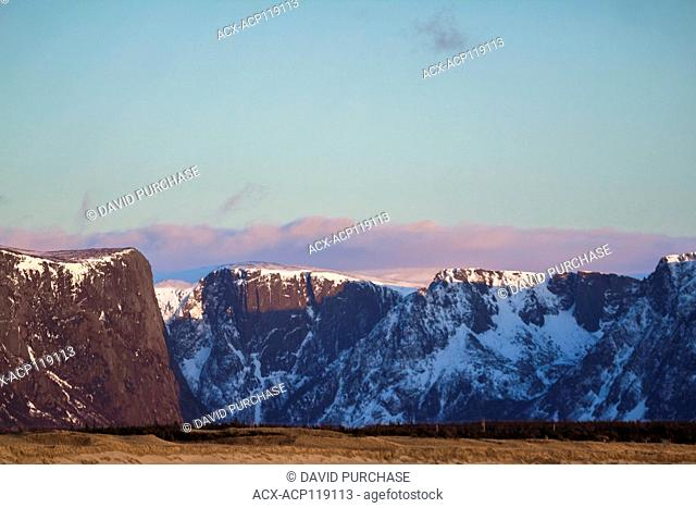 Sunset, Western Brook Fjord, Gros Morne National Park, Newfoundland and Labrador