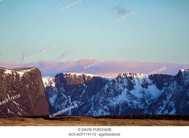 Sunset, Western Brook Fjord, Gros Morne National Park, Newfoundland and Labrador