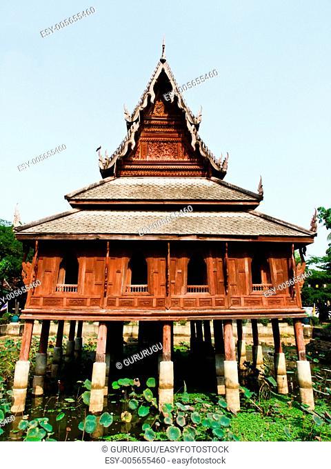 Tripitaka house, Wat Thuang Sri Nuang, Ubonratchathani, Thailan