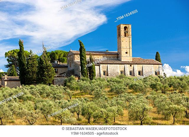 Rolling landscape near San Gimignano, Province of Siena, Tuscany, Italy, Europe