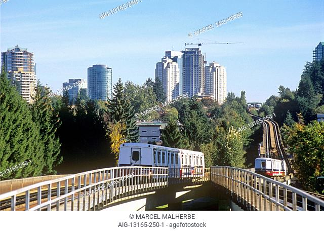 British Columbia, Vancouver, Skytrain in South-Burnaby