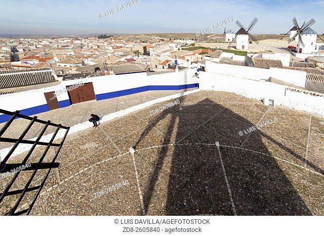 Windmills of Campo de Criptana. La Mancha, Spain
