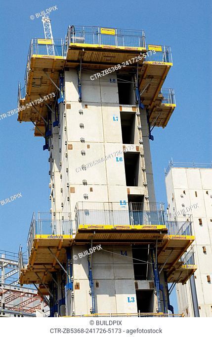 Construction work on an office block as part of the MoreLondonRiverside development, London, UK