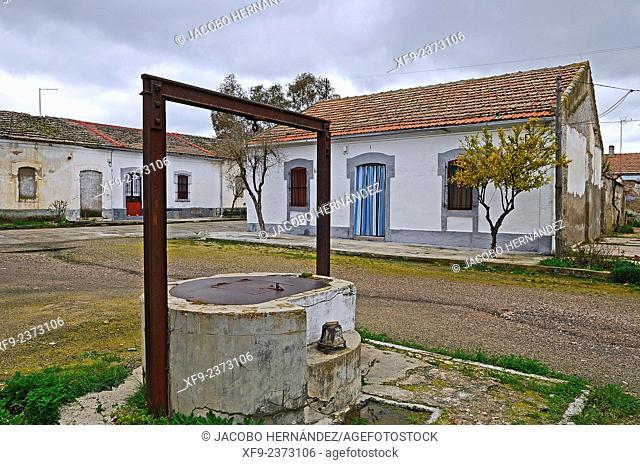 Railway pavilions, ruins of railwail station of Almorchón, La Serena region, Badajoz province, Extremadura, Spain