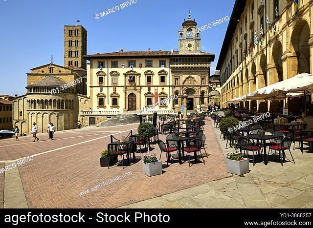 Arezzo Tuscany Italy. Piazza Grande