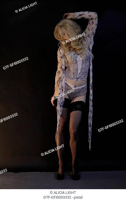 Self Porttait: Woman in lingerie