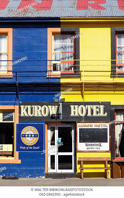 New Zealand, South Island, Canterbury, Kurow, Kurow Hotel