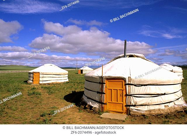 Ger Ranch in the Nomadic Country of Mongolia