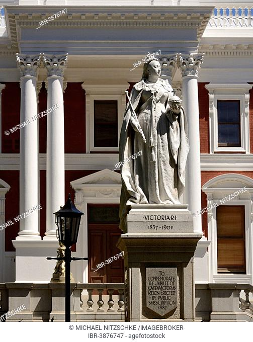 Monument to Queen Victoria, Houses of Parliament, Cape Town, Western Cape, South Africa