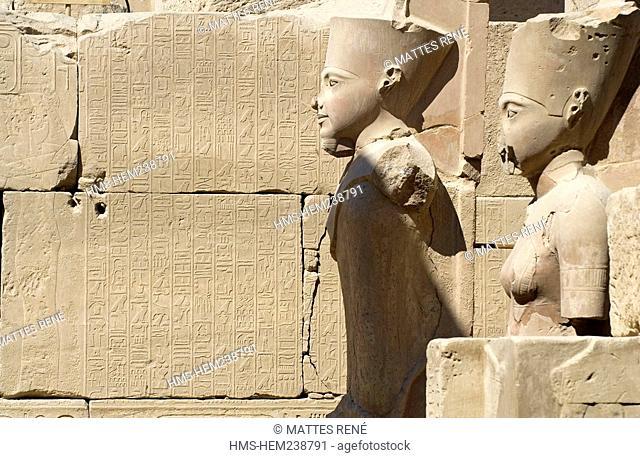Egypt, Upper Egypt, Upper Egypt, Nile Valley, Luxor, Karnak listed as World Heritage by UNESCO, temple dedicated to Amon God