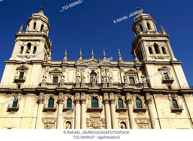 Jaén (Spain). Baroque facade of the Cathedral of Jaén