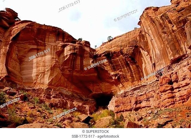 Rock formations in a canyon, Escalante Canyon, Glen Canyon National Recreation Area, Utah, USA
