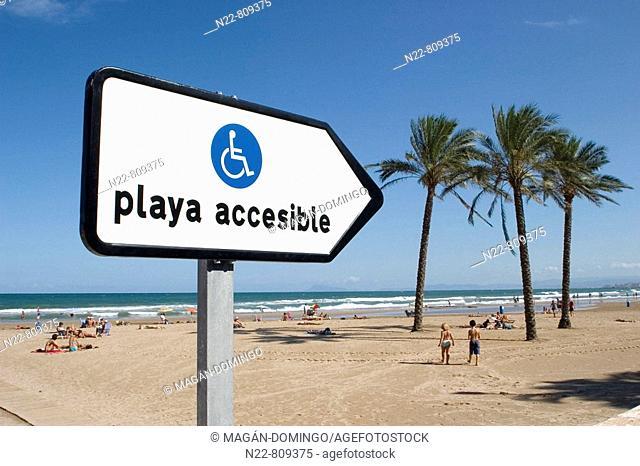 Sign, Cullera. Valencia province, Comunidad Valenciana, Spain