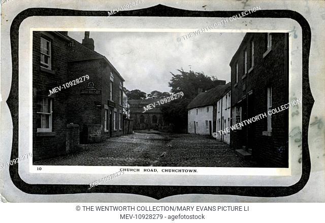 Church Road, Churchtown, Garstang, near Preston, Lancashire, England. Showing the Punch Bowl Hotel