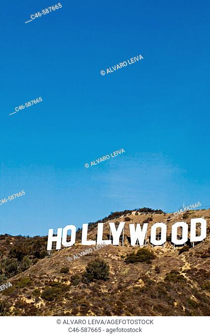 Hollywood Sign on Hollywood Hills. Los Angeles. California, USA