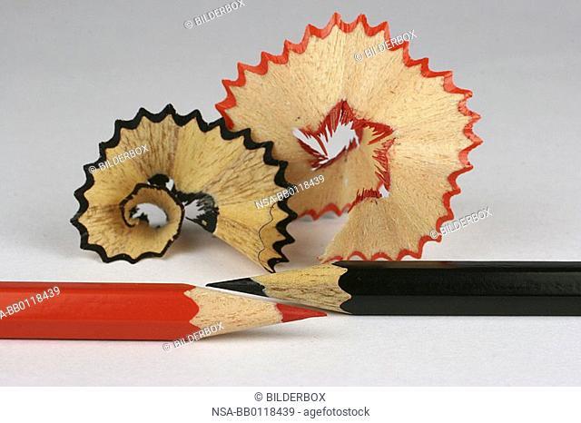 crayons and sharpener chips