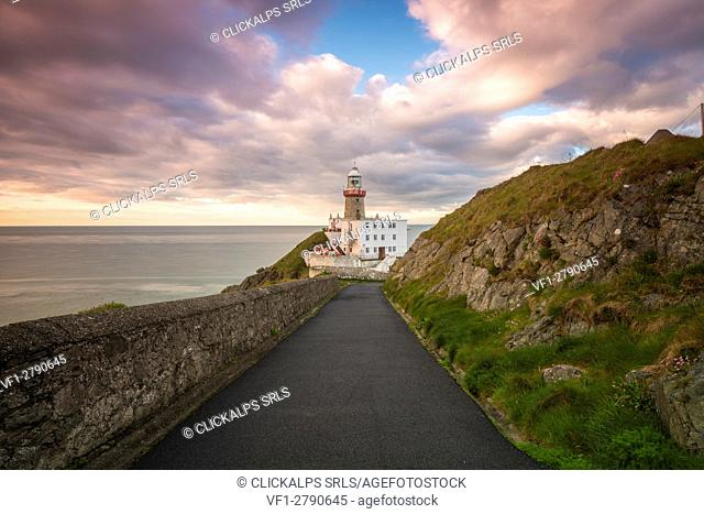 Baily lighthouse, Howth, County Dublin, Ireland, Europe
