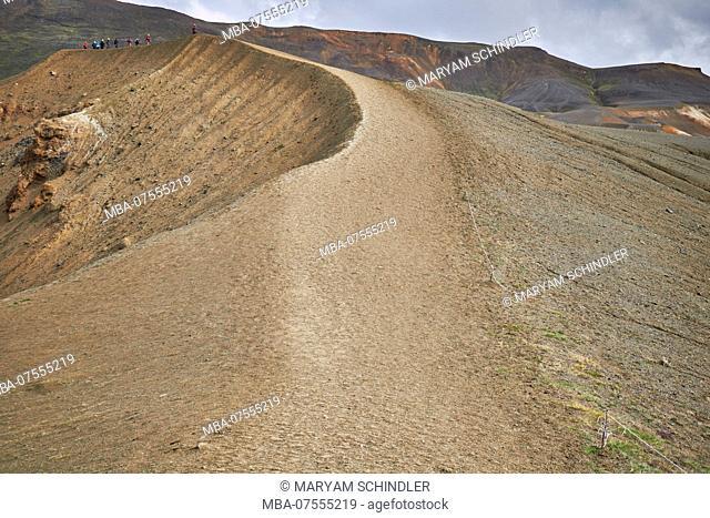 Iceland, Myvatn, Krafla volcano area, ringroad, askja sand dunes