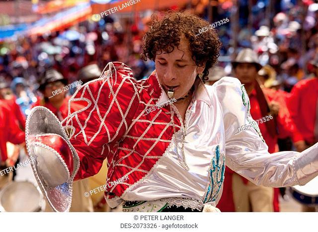 Caporales Dancer In The Procession Of The Carnaval De Oruro, Oruro, Bolivia