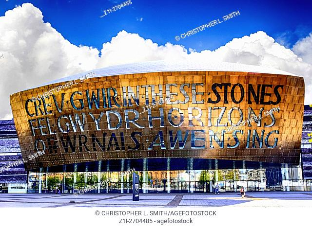 The Wales Millenium Centre building Cardiff City