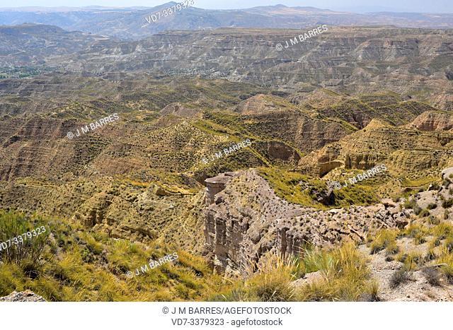 Badlands in Gorafe Desert, Granada province, Andalucia, Spain