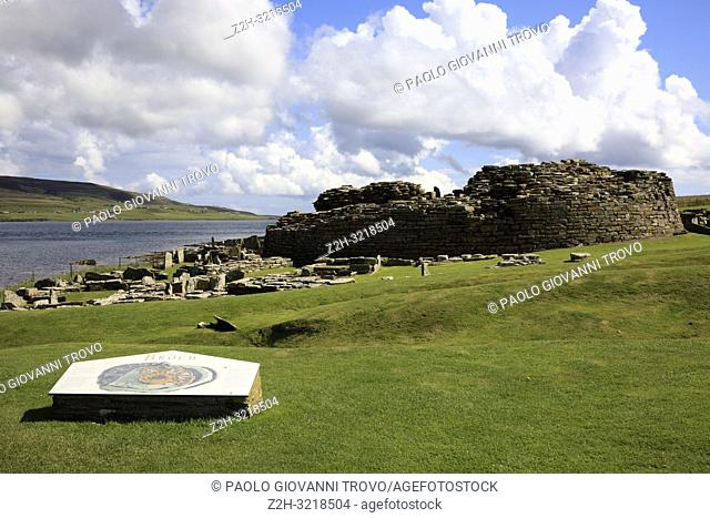 Broch of Gurness site, Orkney, Scotland, Highlands, United Kingdom