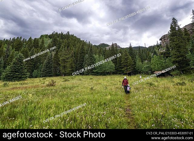 Mother and daughter in the Colorado Rockies