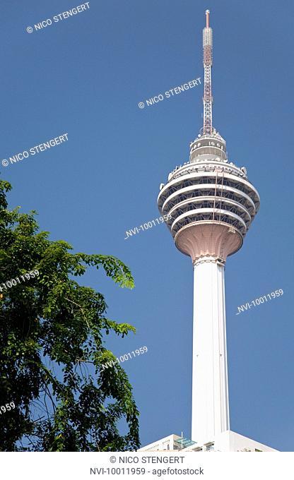 Menara TV Tower, the fourth largest telecommunications tower in the world, Kuala Lumpur, Malaysia, Southeast Asia, Asia