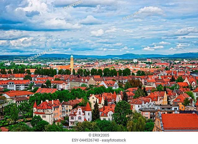 Panoramic view on old city center of Murich, Germany
