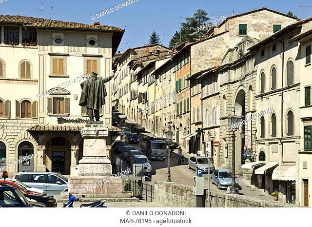 little town centre, anghiari, italy