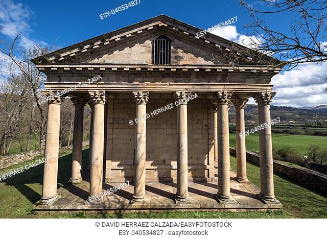 Sain George old neoclassic church in Cantabria, Spain