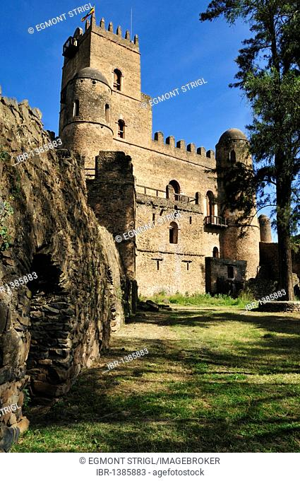 Fasiladas Palace, Royal Enclosure Fasil Ghebbi, UNESCO World Heritage Site, Gonder, Gondar, Amhara, Ethiopia, Africa