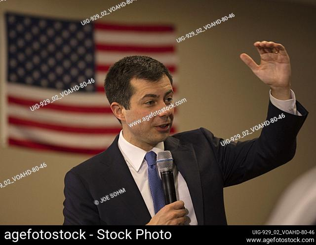 FEBRUARY 18, 2020, LAS VEGAS, NEVADA - Democratic Candidate Mayor Pete Budigieg appears at GOTC Town Hall, Las Vegas, Nevada
