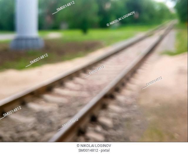 Diagonal railway bokeh background hd