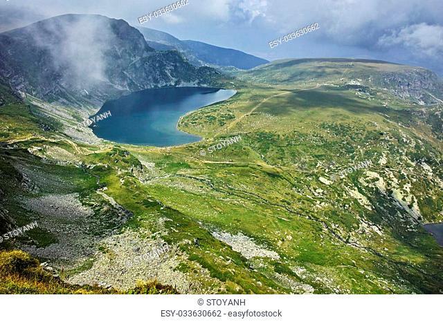 Amazing Landscape to The Kidney lake, The Seven Rila Lakes, Bulgaria