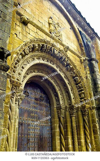 Romanesque Facade of Sta  Maria Church  Uncastillo Aragonese: Uncastiello is an Aragonese municipality in the province of Zaragoza situated in the county of...