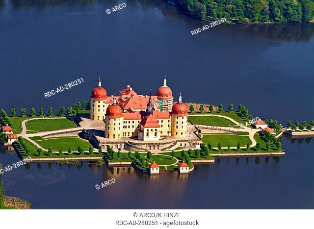 Castle Moritzburg, Promnitz valley, Dresden, Saxony, Germany / Promnitztal