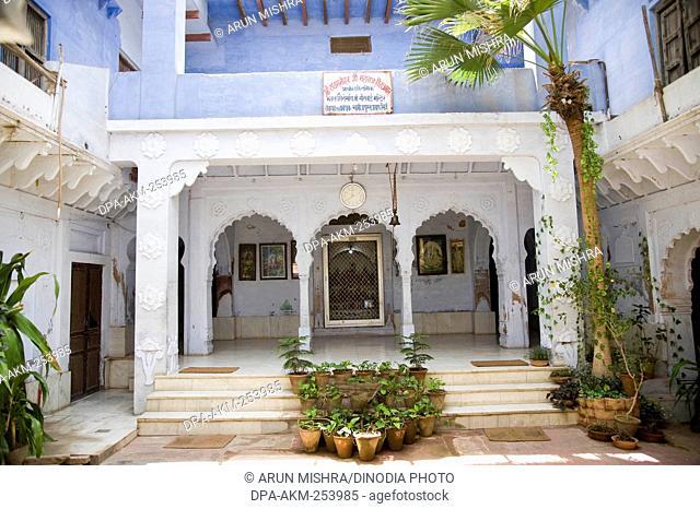 Mirabai temple, govind bagh, vrindavan, uttar pradesh, india, asia