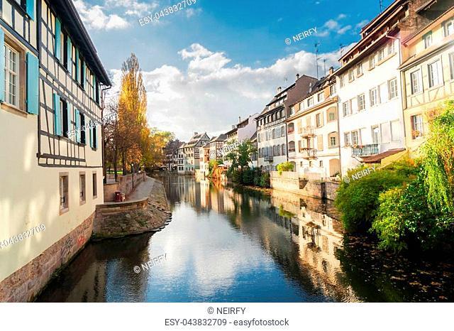 Petit France medieval district of Strasbourg, Alsace France
