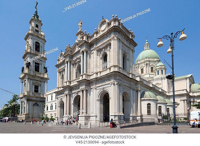 Pontificio Santuario della Beata Vergine del Santo Rosario di Pompei and campanile, The Pontifical Shrine of the Blessed Virgin of the Rosary of Pompei with its...