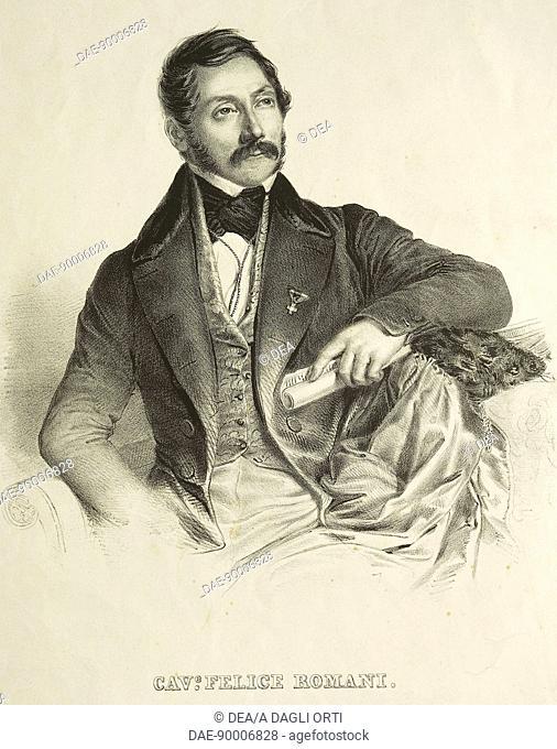 Portrait of Felice Romani (Genoa, 1788 - Moneglia, 1865), Italian librettist, poet and music critic.  Milan, Museo Teatrale (Scala)