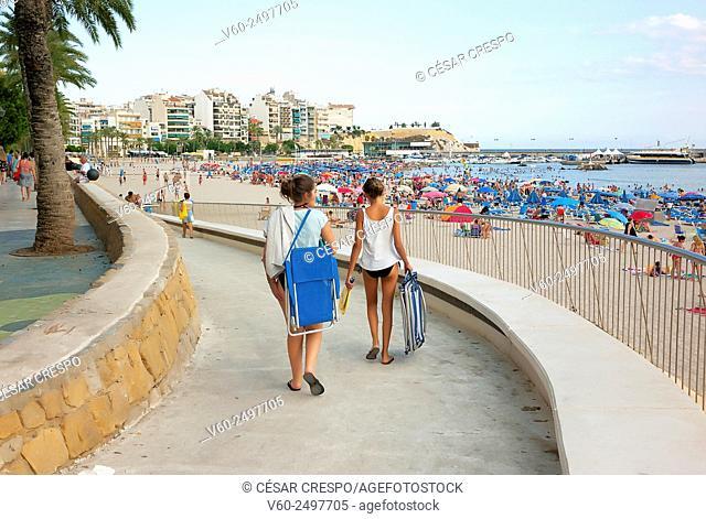 -Young Girls going to Beach- Benidorm Beach Spain