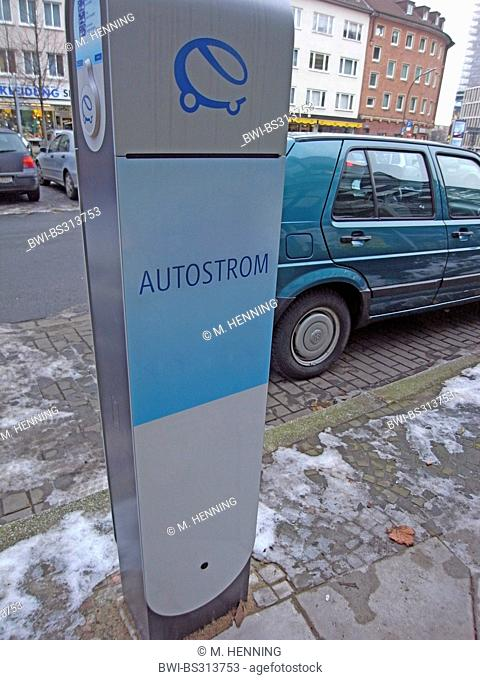 recharge station for electric cars, Germany, Ruhr Area