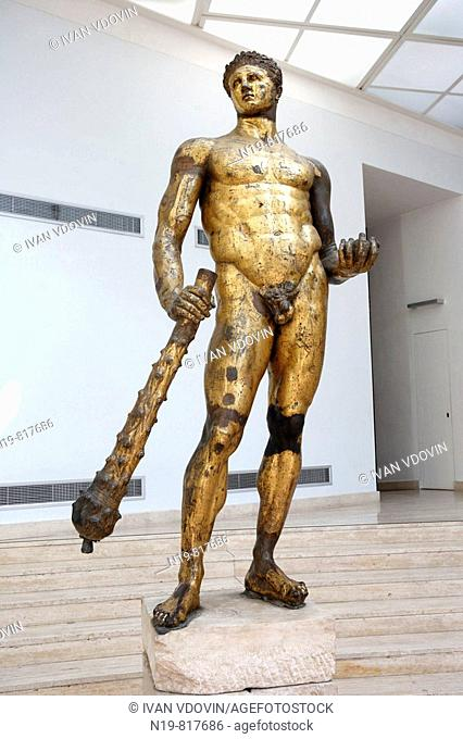 Gilded bronze statue of Hercules (2nd century BC), Capitoline Museums, Rome, Italy