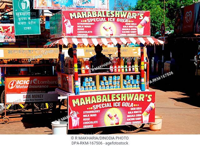 Special Ice cream gola cart ; Mahabaleshwar ; Maharashtra ; India