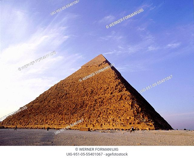 The Pyramid of Khephren at Giza