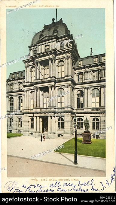 City Hall, Boston, Mass. Detroit Publishing Company postcards 7000 Series. Date Issued: 1898 - 1931 Place: Detroit Publisher: Detroit Publishing Company Date...
