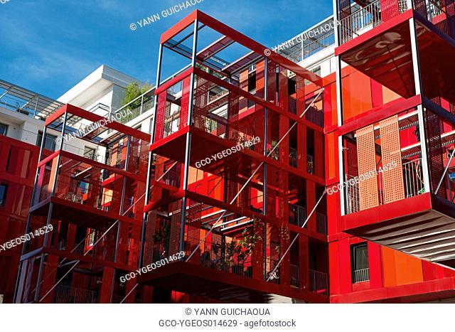 Modern Architecture, District Of Port Marianne, Montpellier, Herault, France