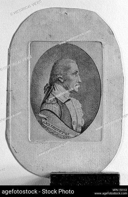 George Washington. Artist: Joseph Wright (American, Bordentown, New Jersey 1756-1793); Sitter: George Washington (American